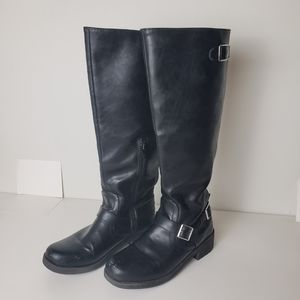 Mossimo Supply tall buckle riding boots